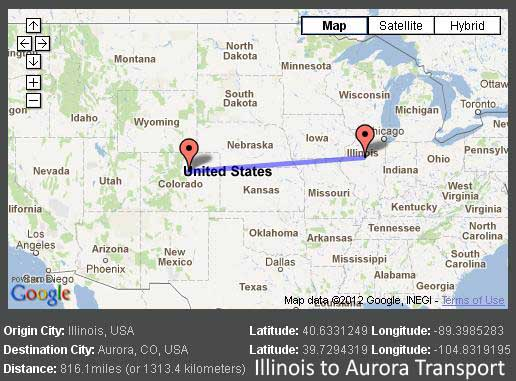 Illinois Aurora Map