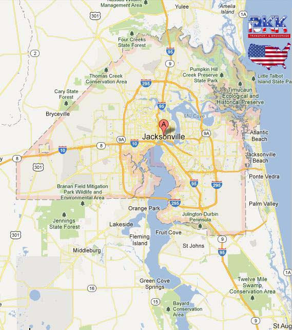 Jacksonville Florida Neighborhood Map City  Share The