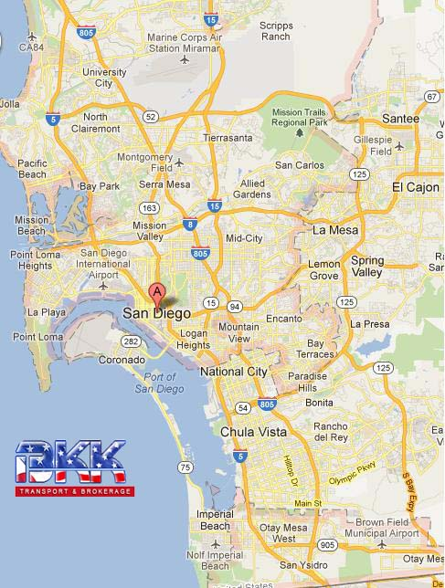 San Diego Highway Map