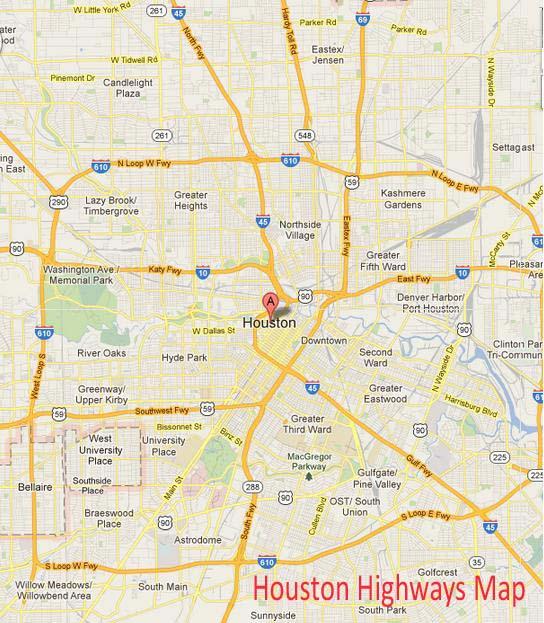 Houston National Highway Map