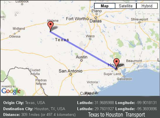 Texas to Houston Transport