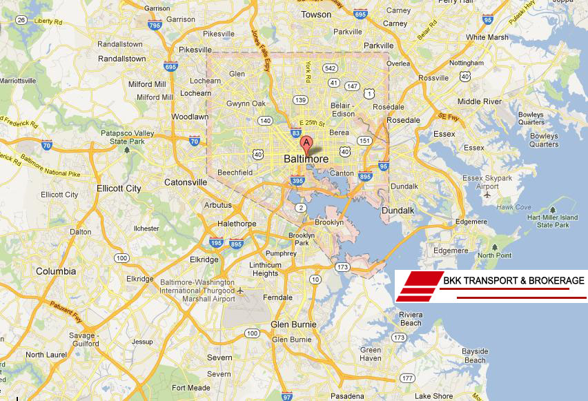 Baltimore National Highway Map