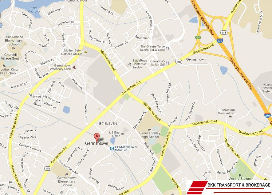 Germantown National Highway Map