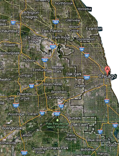Chicago National Highway Map