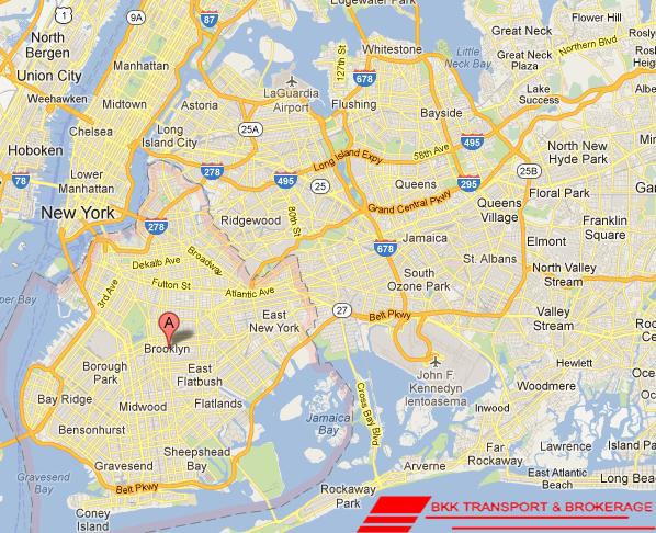 Brooklyn National Highway Map