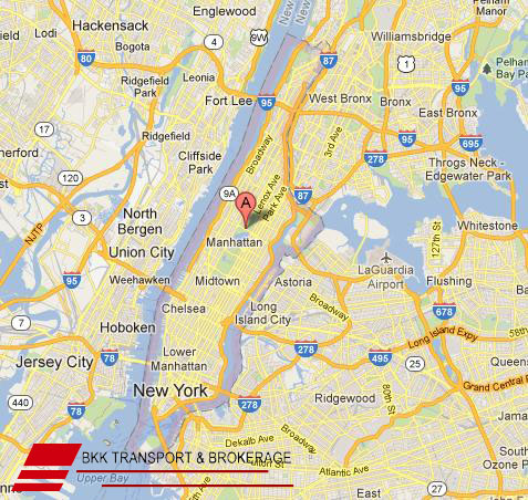 Map Of Manhattan And Bronx.Movers In Manhattan Door To Door Services Shipping Rates