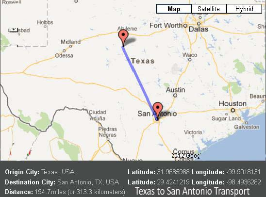 Texas to San Antonio Transport